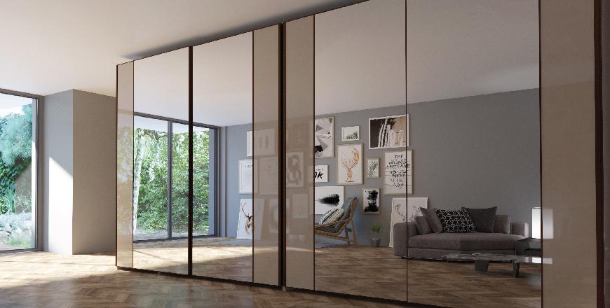 Mirrored wardrobe – it's still vogue